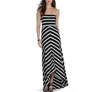 White House Black Market Strapless Maxi Dress M